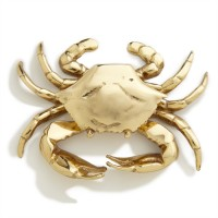 Crab Door Knocker, brass