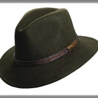 Crushable Wool Felt Safari Hat, olive