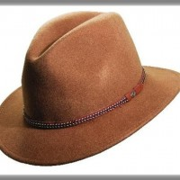 Crushable Wool Felt Safari Hat, pecan