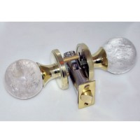 Crystal Quartz Door Knob Set, detail