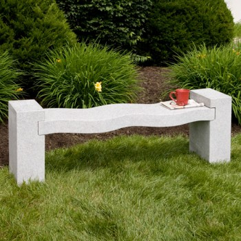 Curved Granite Bench