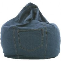 Denim Bean Bag Chair, detail