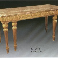 Double Footed Gilt Table