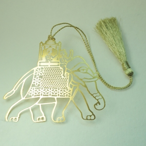 Elephant Cutout Brass Bookmark