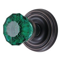 Emerald Crystal Door Knob Set