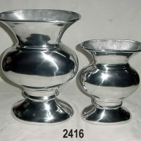 English Country House Silver Flower Vases