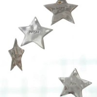 Engraved Silver Star Ornaments