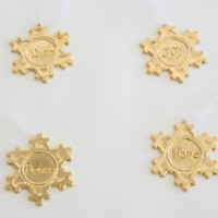 Engraved Snowflake Ornaments, 24k gold