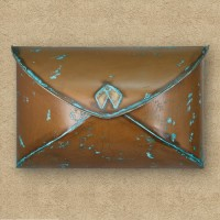 Envelope Wall Mount Mailbox, copper