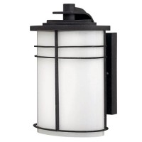 FL Wright Bronze Wall Lantern, black