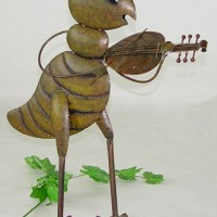 Fiddle Player Cricket Garden Decor