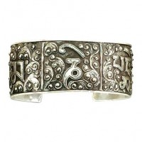 Filigree Mantra Cuff