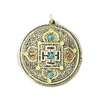 Filigree Yantra Meditation Pendant