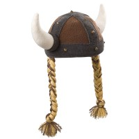 Fleece Viking Hat with Braids