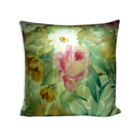 Floral Mix Silk Pillow Cover