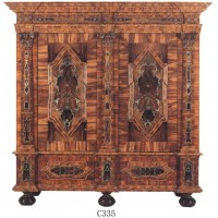 Footed Inlay Cabinet