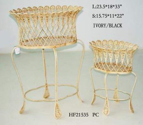 Footed Iron Plant Stands