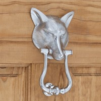 Fox Door Knocker, chrome