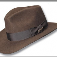 Fur Felt Fedora, brown
