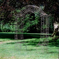 Garden Trellis with Two Seats