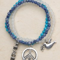 Gemstone Peace Bracelet