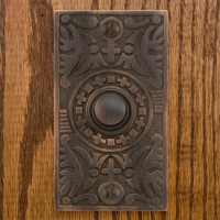 Goddess Doorbell, bronze