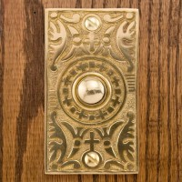 Goddess Doorbell, polished brass