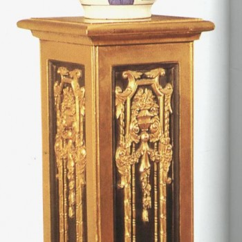 Gold Column Plant Stand