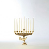 Gold Dove Menorah