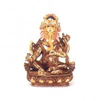 Gold Faced Ganesh Statue