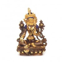 Gold Faced Tara Statue