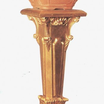 Gold Footed Plant Stand