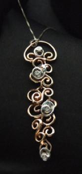 Gold & SIlver Curlicue Necklace