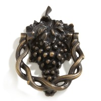 Grapevine Door Knocker, brass