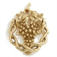 Grapevine Door Knocker, polished brass