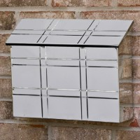 Grid Wall Mount Steel Mailbox