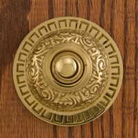 Halo Doorbell, polished brass