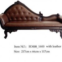 Hand-Carved Fainting Couch