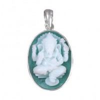 Hand-Carved Ganesh Cameo