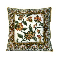Hand Embroidered Floral Cushion Cover