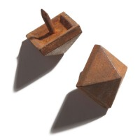 Hand-Forged Iron Square Pyramid Nail