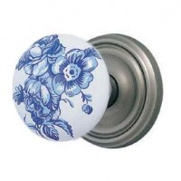 Hand Painted Door Knob & Plate Set