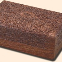 Handcarved Wraparound Design Box, 12 inches x 8 inches