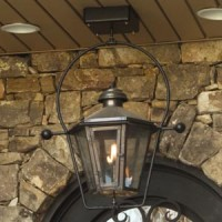 Hanging Bronze Gas Lantern