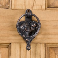 Happy Home Door Knocker, bronze