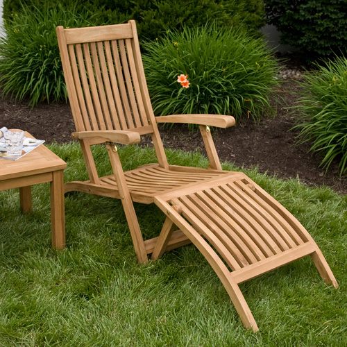 Honey Teak Folding Lounge