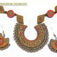 Horseshoe Bead Terracotta Necklace