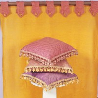 Indian SIlk Tasseled Pillows