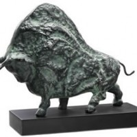 Iron Buffalo Sculpture