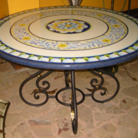 Italian Ceramic Garden Table